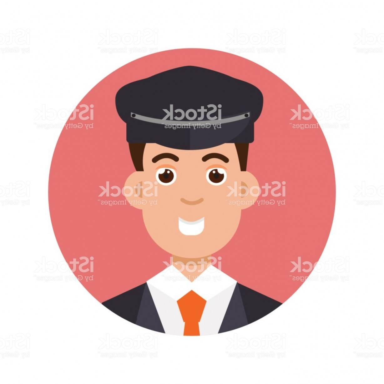 Chauffer Driver Cap Vector: Limo Driver Character Icon Vector Illustration Gm