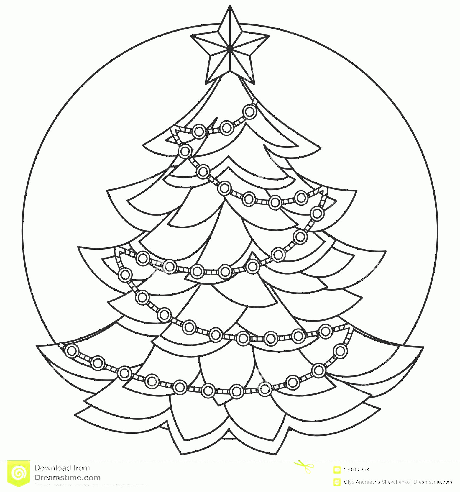 Black And White Christmas Ornament Vector Art: Line Art Black White Christmas Tree Line Art Black White Christmas Tree Coloring Book Page Adults Kids Holiday Image