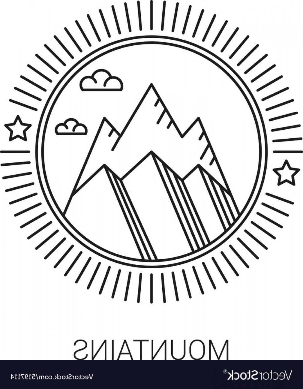 Hipster Logo Vectors Mountain: Line Mountain And Travel Design Logos And Icons Vector