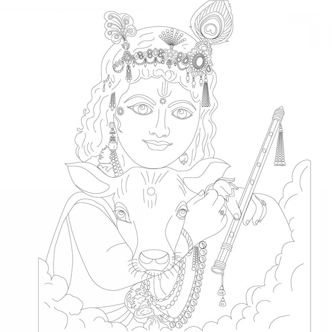 Vector Hindu Art: Line Vector Of Indian Gods From Reference Photos Using Adobe Illustrator Byentry