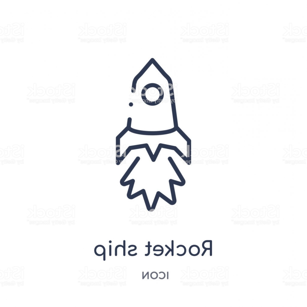 Rocket Ship Vector: Linear Rocket Ship Icon From Astronomy Outline Collection Thin Line Rocket Ship Gm
