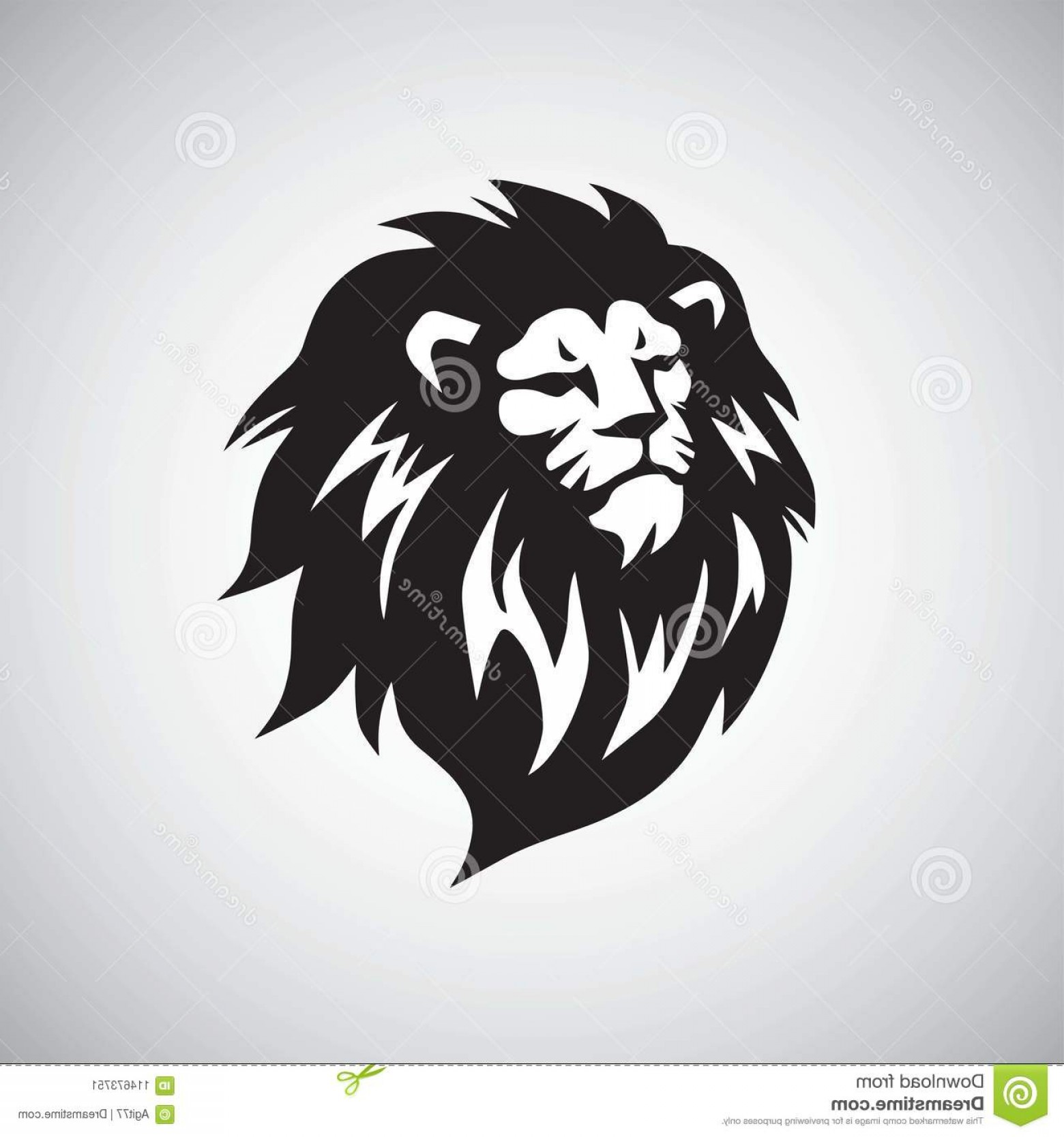 Cool Logo Icon Vector: Lion Head Cool Logo Design Vector Illustration Mascot Icon Image