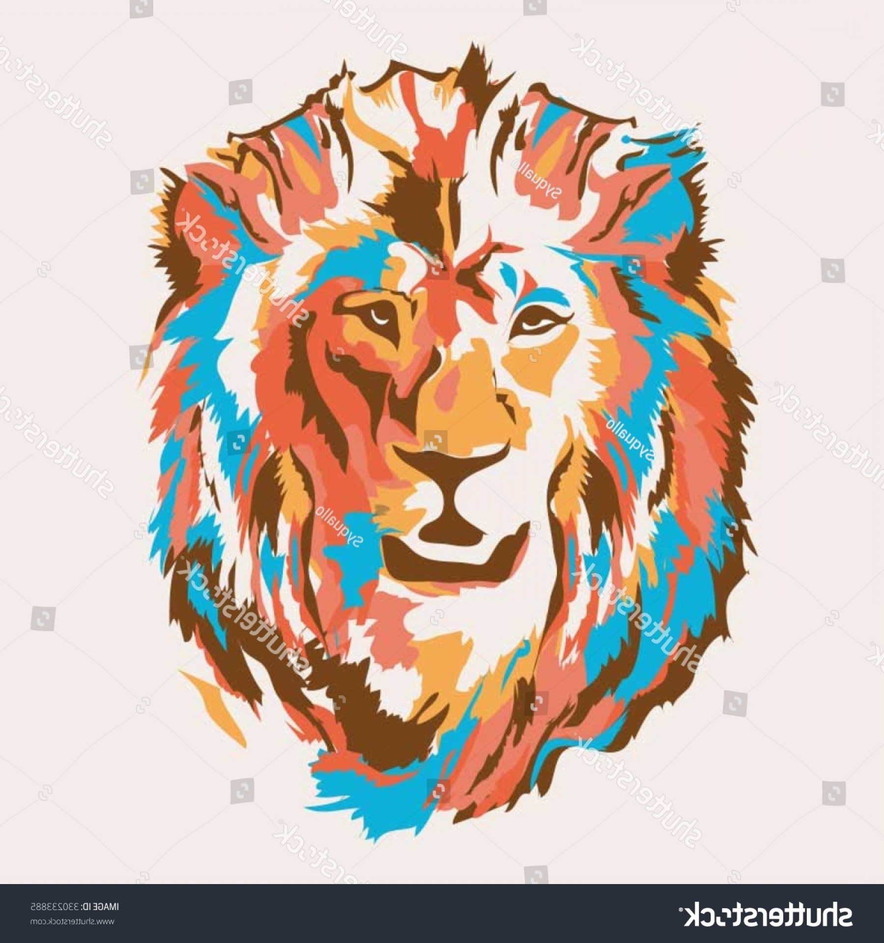 Faith Lions Vector Art Images: Lion Head Illustration Tshirt Graphics Vectors