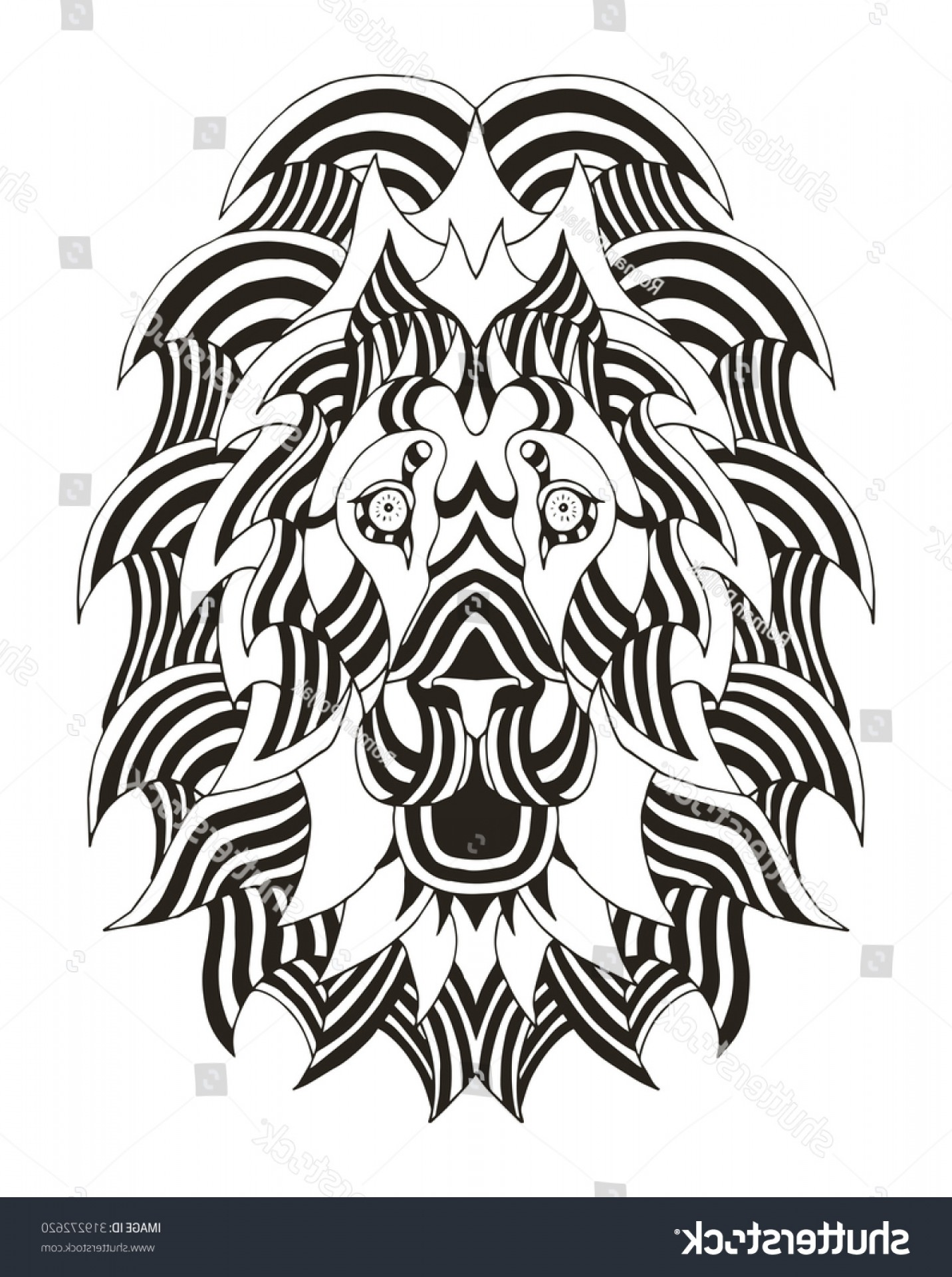 Faith Lions Vector Art Images: Lion Head Zentangle Stylized Vector Illustration