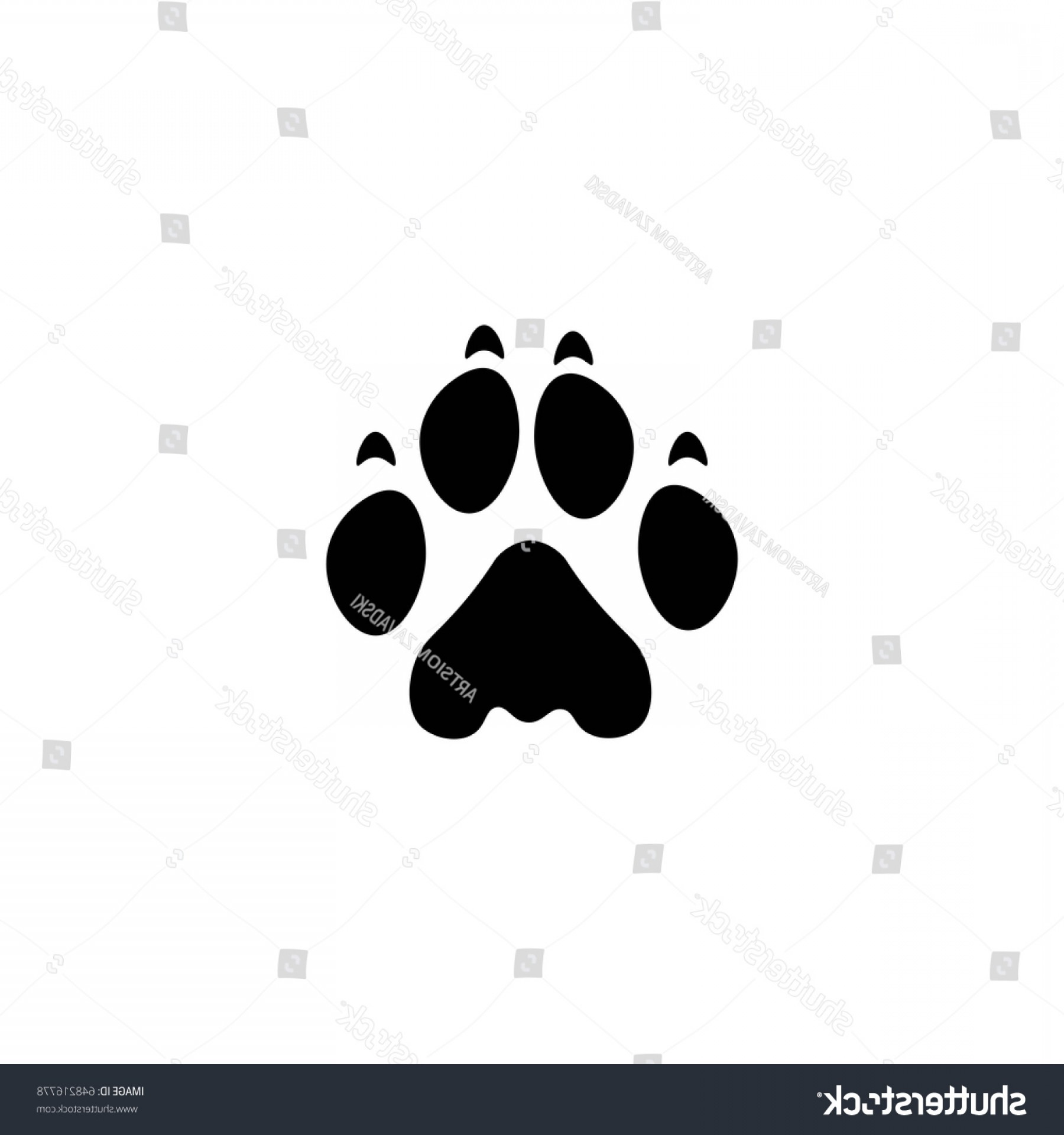 Vector Paw Decals: Lion Paw Print Vector Icon