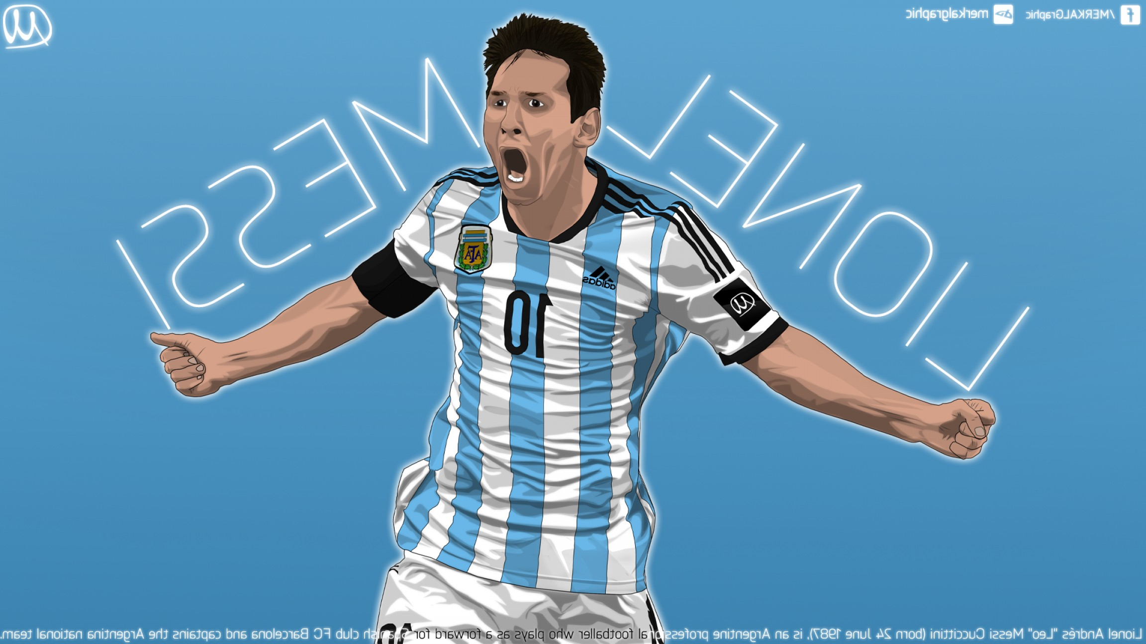 Football Vector Wallpaper: Lionel Messi Vector Work Done