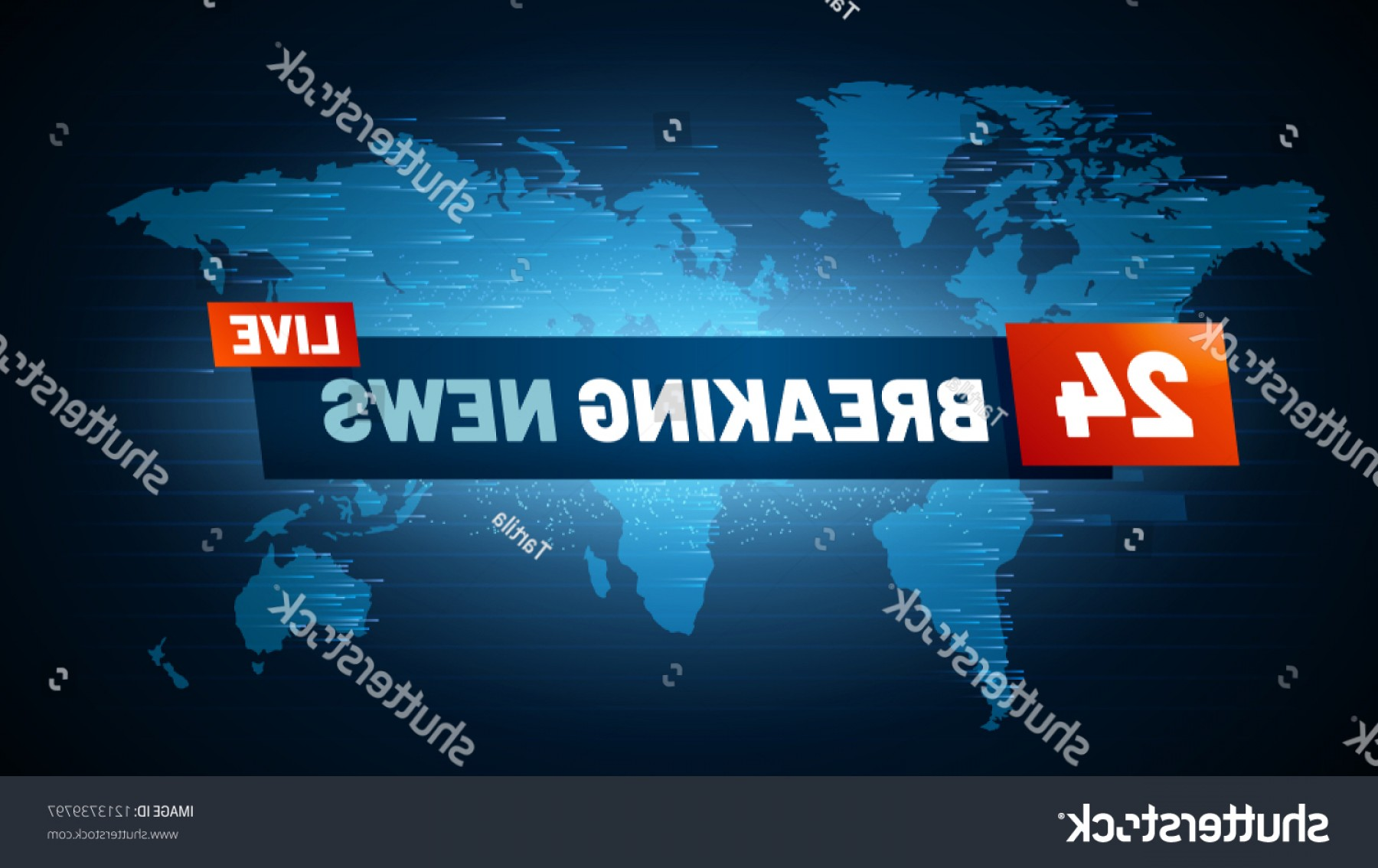 Abstract Vector Art Globe TV: Live Breaking News Background Streaming Internet
