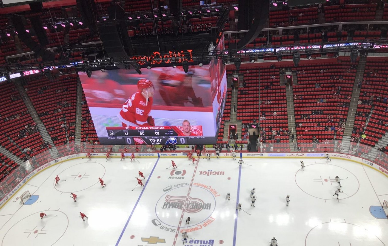 Detroit Red Wings Vector Art: Live Coverage Buffalo Sabres At Detroit Red Wings