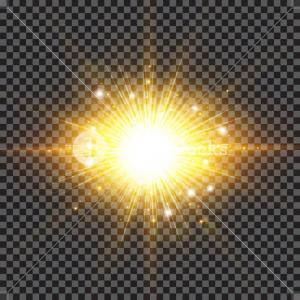 Sparkle Burst Vector: Lighting Effect Sparkling Sun Rays Burst With Splinter Flare On Transparent Background Vector Illustration Rxbmjmjfwtlg