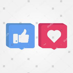 Instagram Logo Icon Vector: Like Love Instagram Facebook Isometric Icon