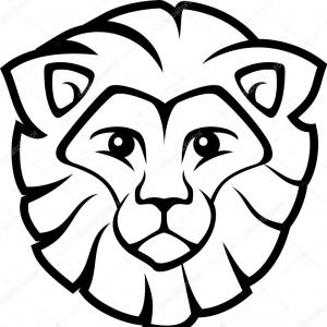 Easy Lion Vector Illustration: Lion Vector Logo White Eps File Easy To Edit Lion Vector Logo White Image
