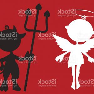 Devil Vector Art: Little Angel And Devil Gm