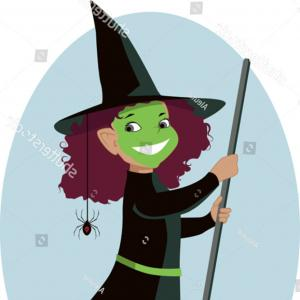 Wicked Musical Logo Vector: Little Girl On Wicked Witch West