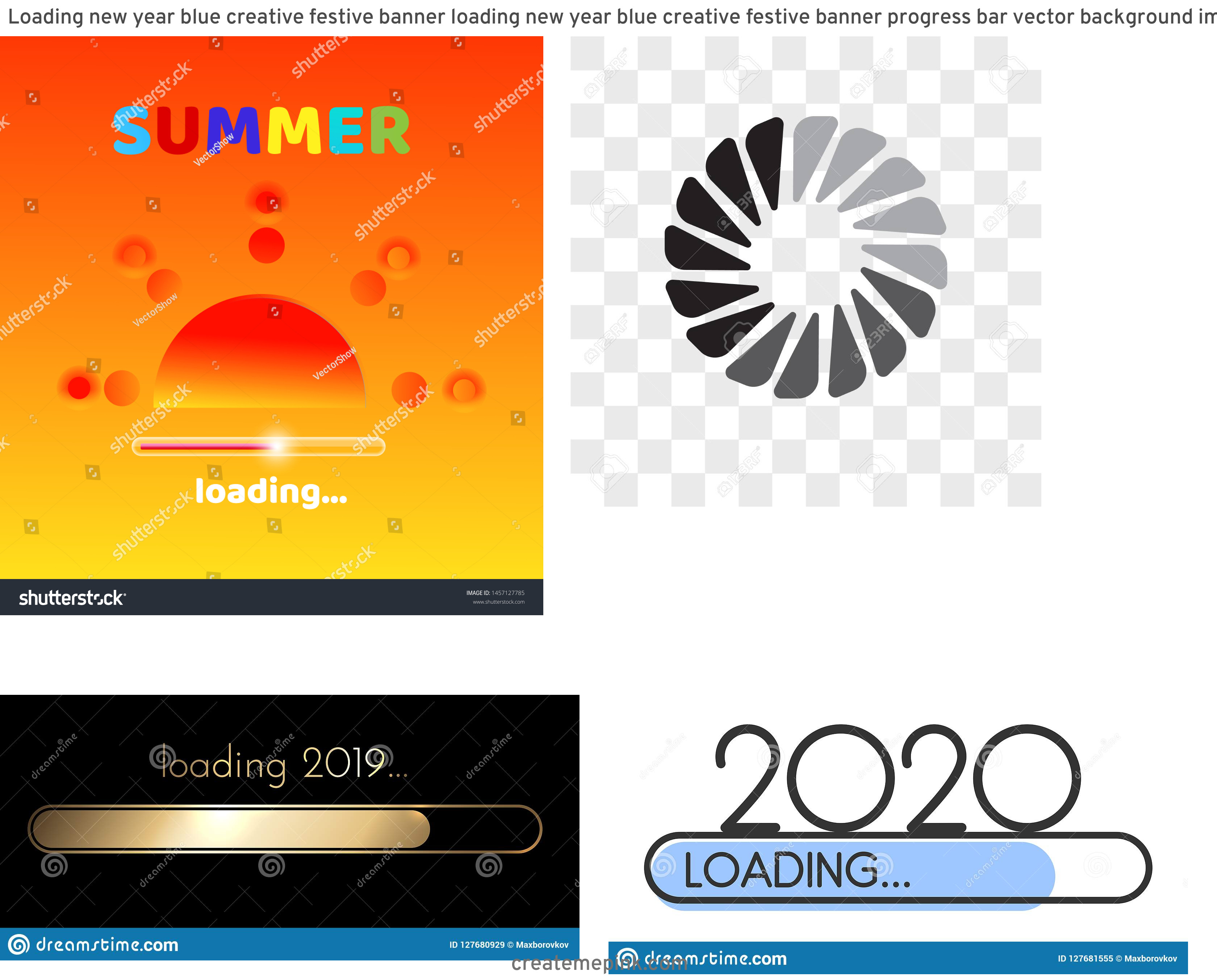 Creative Loading Vector: Loading New Year Blue Creative Festive Banner Loading New Year Blue Creative Festive Banner Progress Bar Vector Background Image