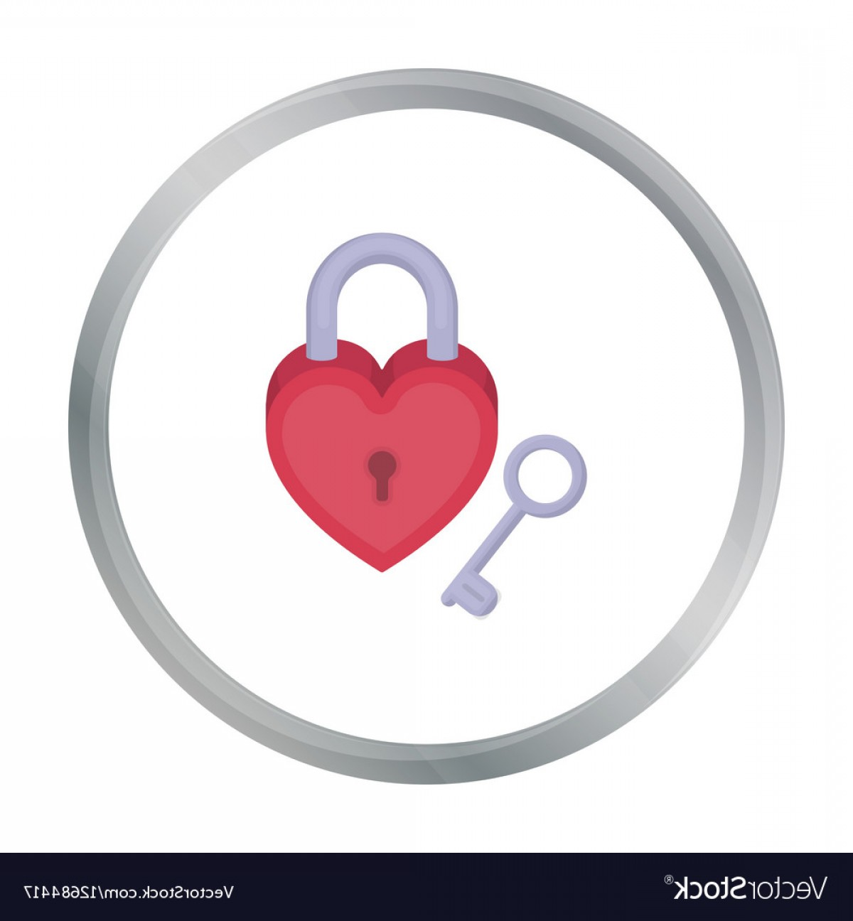 Arrow Lock And Key Vector: Lock And Key Icon In Cartoon Style Isolated On Vector