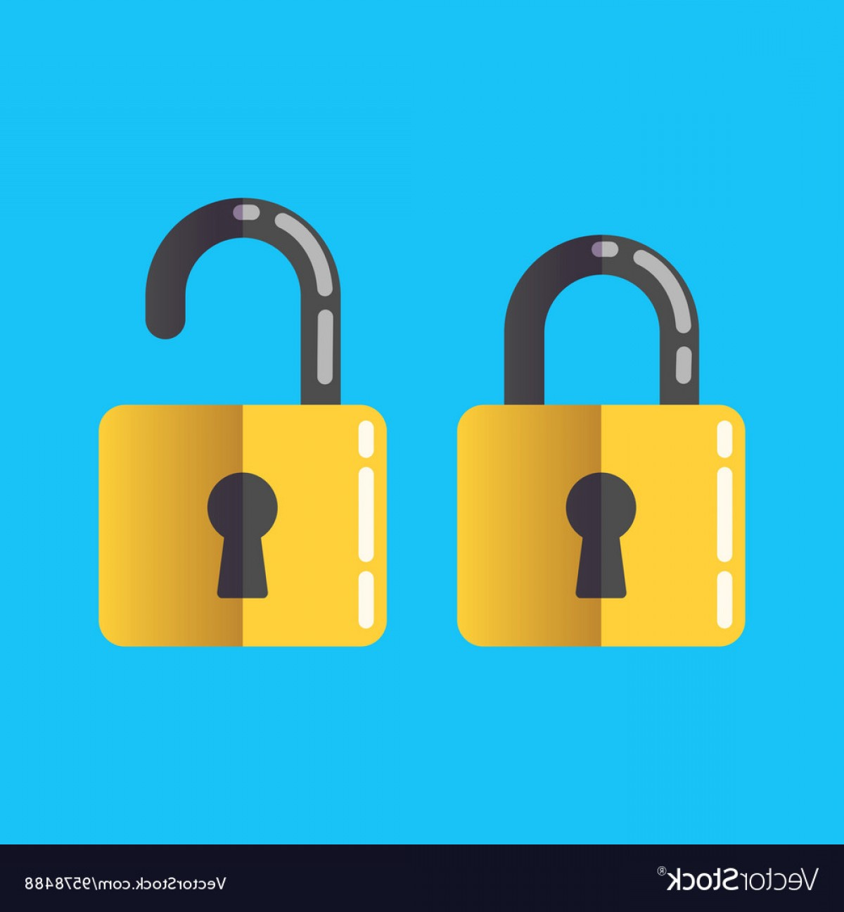 Lock Unlock Icon Vector: Lock Unlock Icon Password Protected Vector