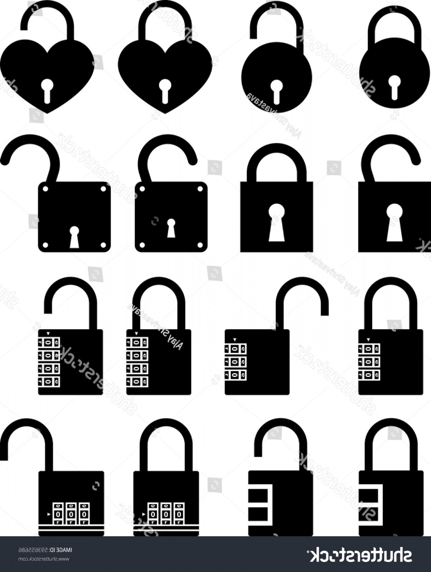 Lock Unlock Icon Vector: Lock Unlock Icon Vector Illustration