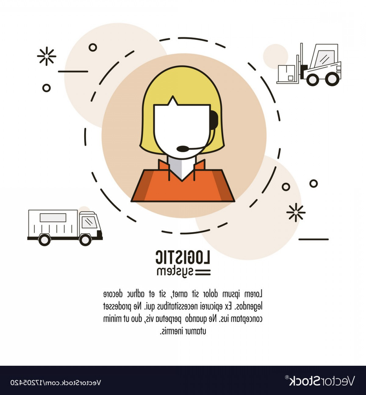 Vector System Infographic: Logistic And Delivery System Infographic Vector