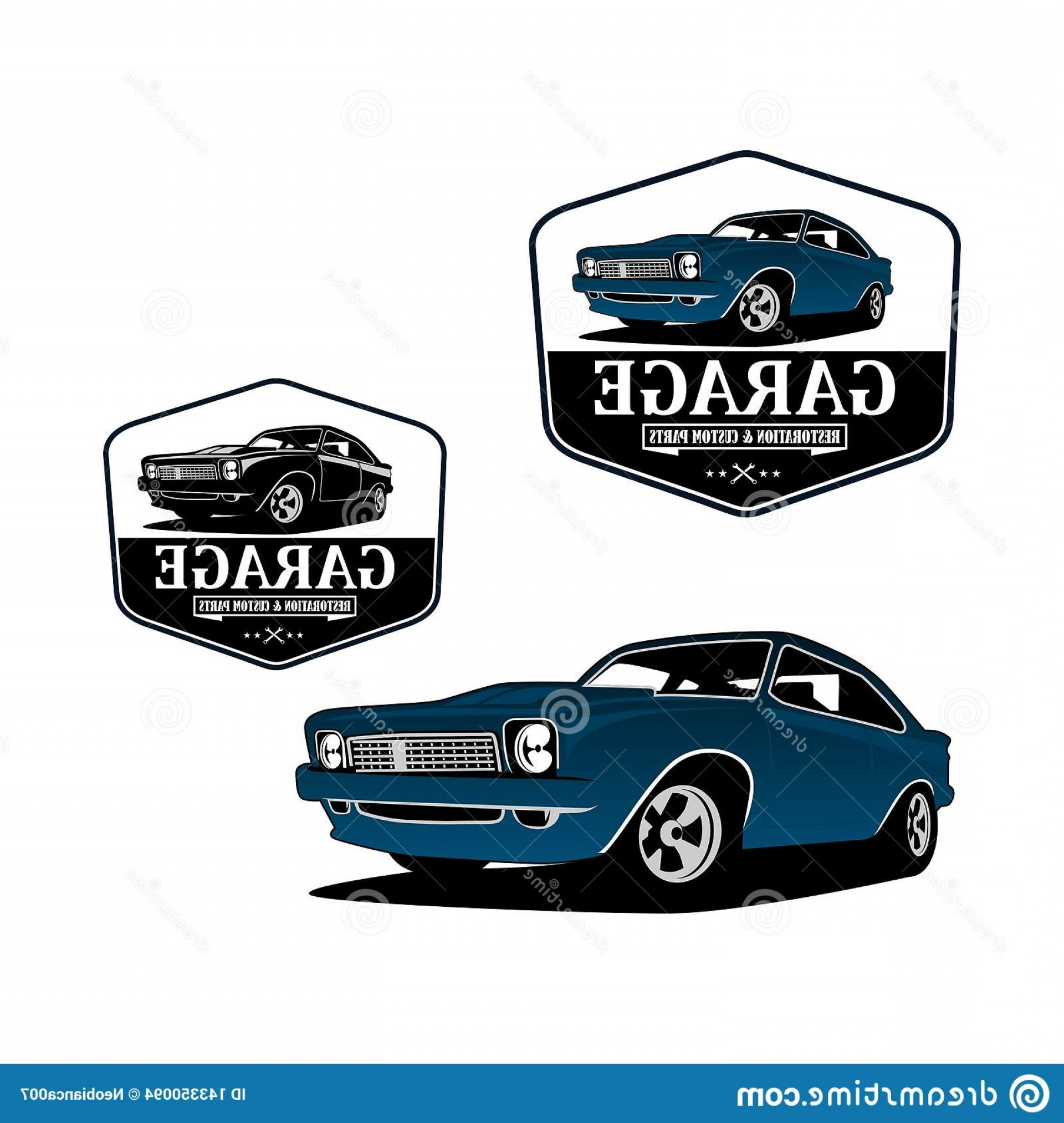 Custom Police Cars Vector: Logo Car Speed Shop Auto Repair Vector Badge Sport Vintage Modern Gear Classic Muscle Restoration Garage Custom Image