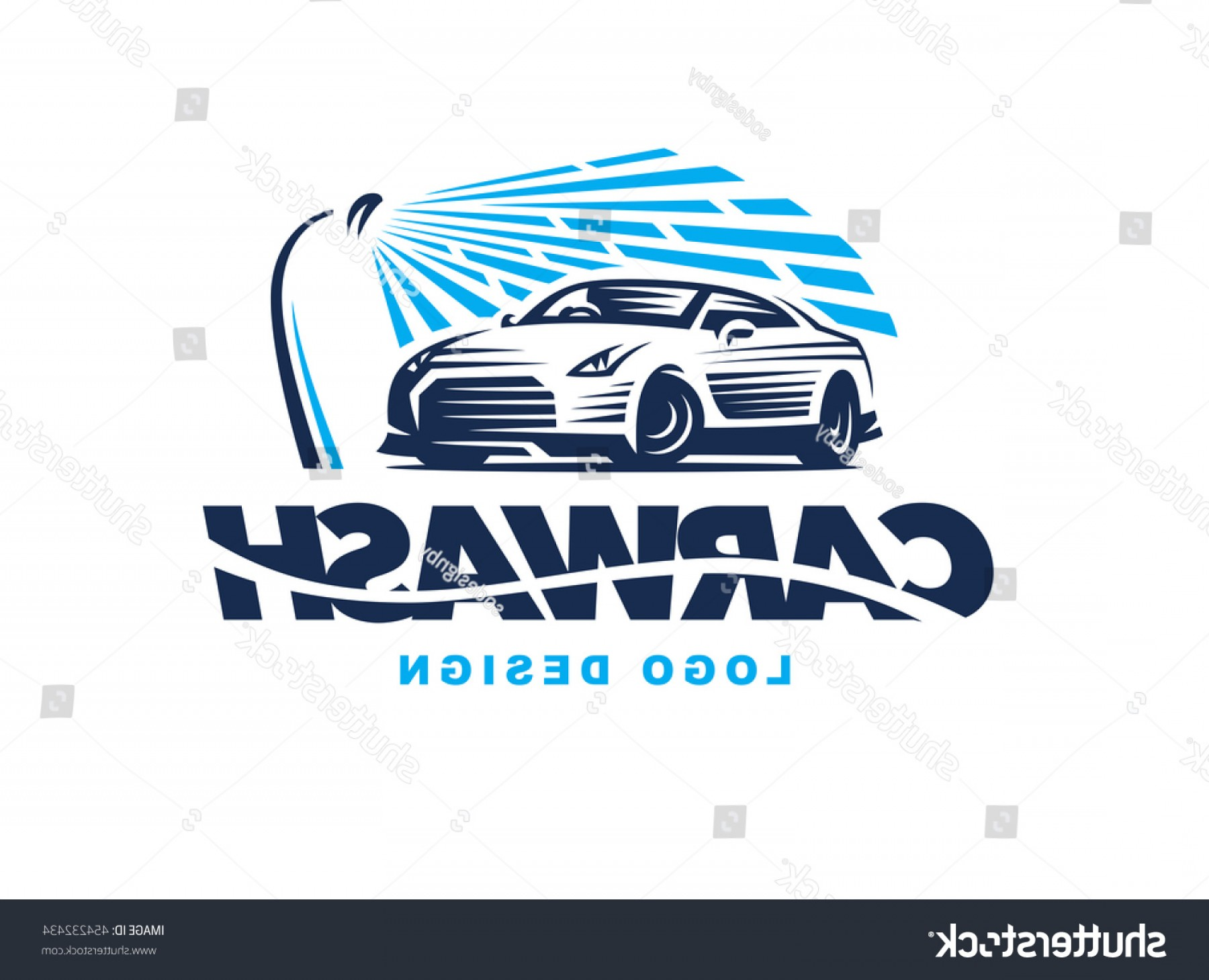 Car Wash Vector Graphics: Logo Car Wash On Light Background