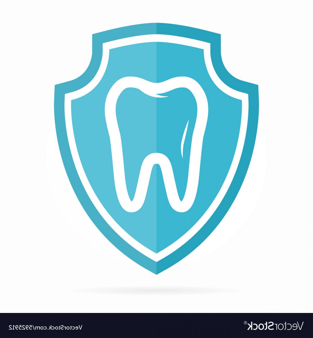 Tooth Vector Logo: Logo Combination Of Shield And Tooth Vector