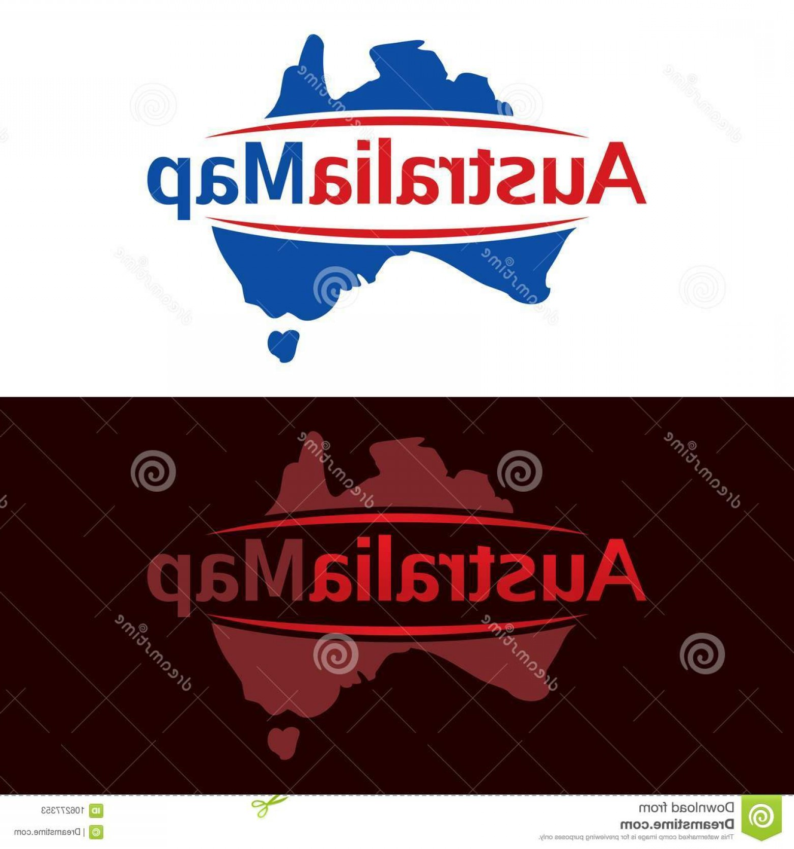 Australia Australia Tour Vector: Logo Featuring Map Australia Space Middle Your Company S Name Australia Map Vector Illustration Icon Image
