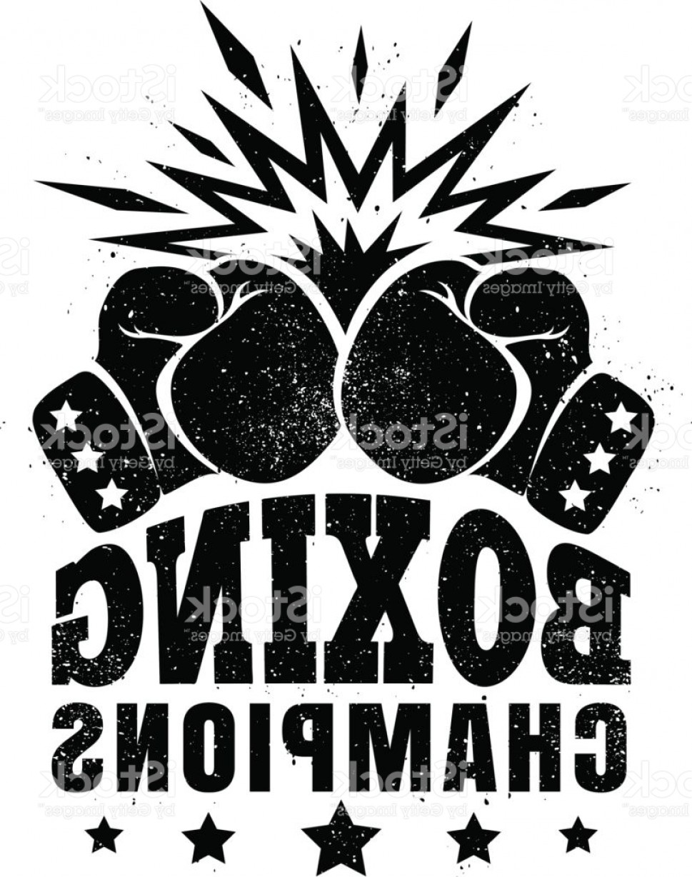Champions Gym Vector: Logo For A Boxing Gm