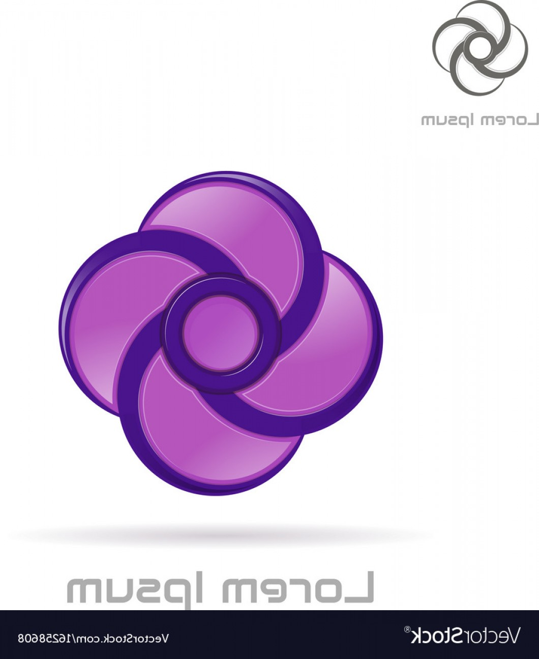 Violet Swirl Design Vector: Logo Violet Swirl Element Vector