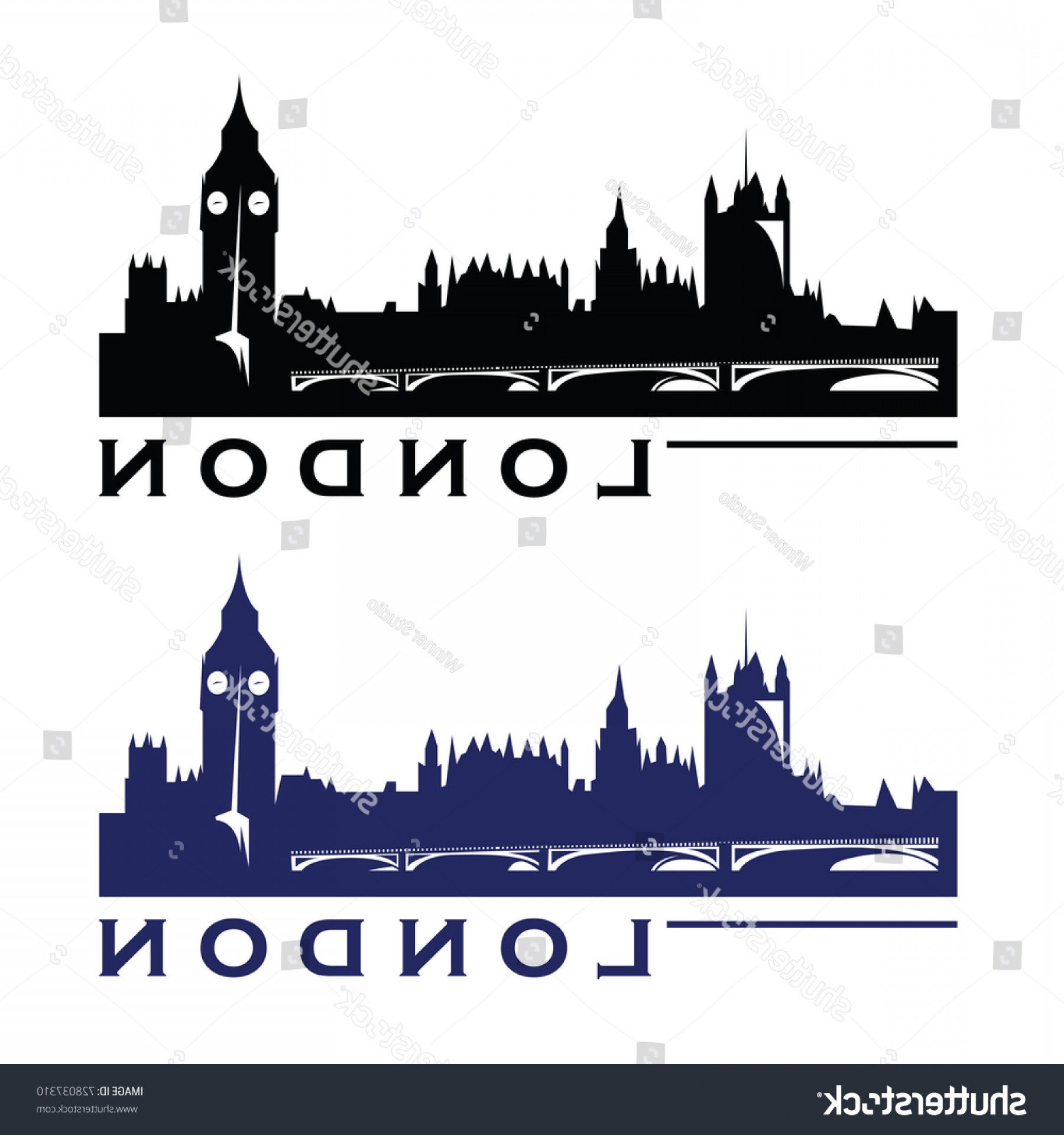 UK Skyline Vector: London Uk Skyline Logo Cityscape Landmarks