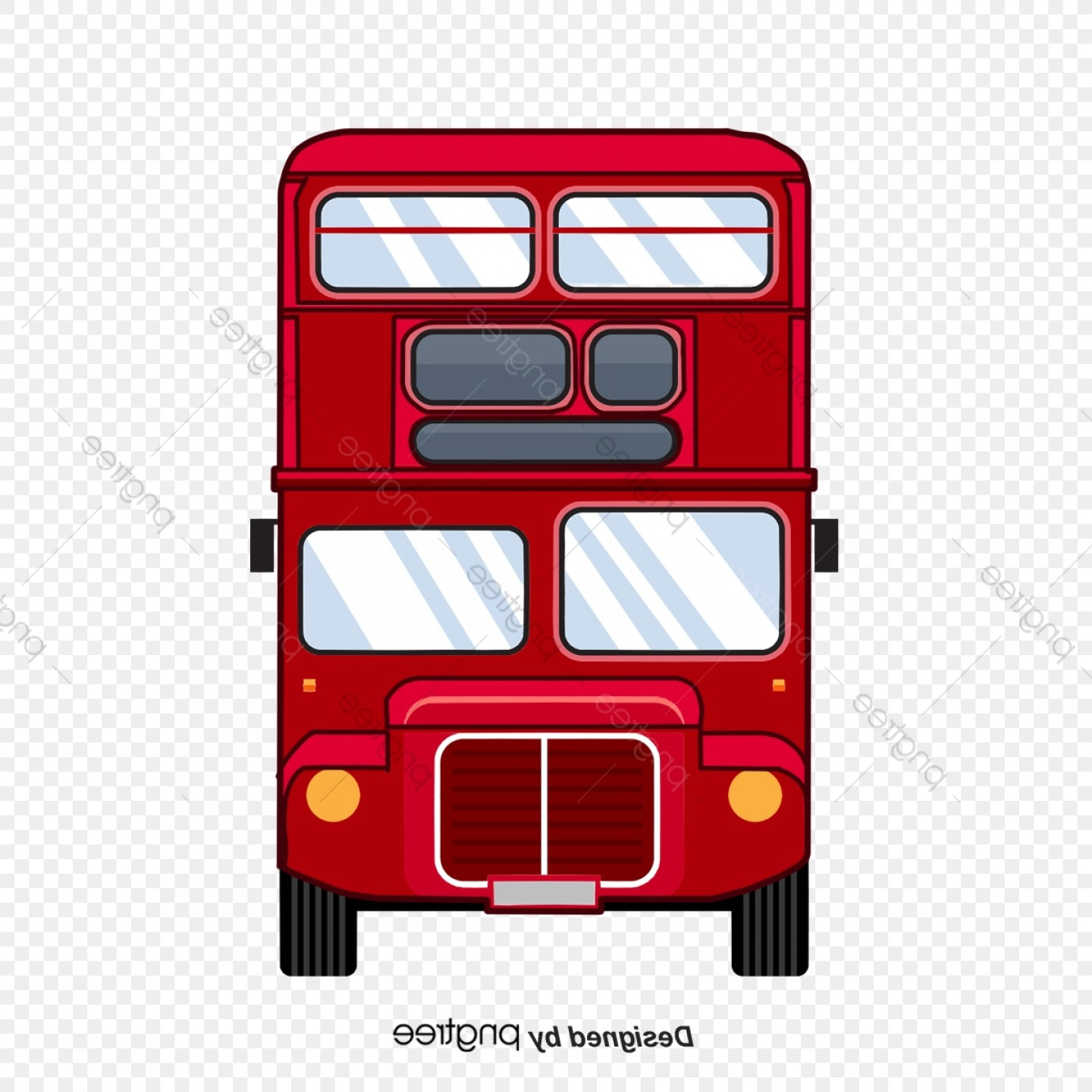 Pic Bus Vector Format: London Vector Double Decker Front Red Bus