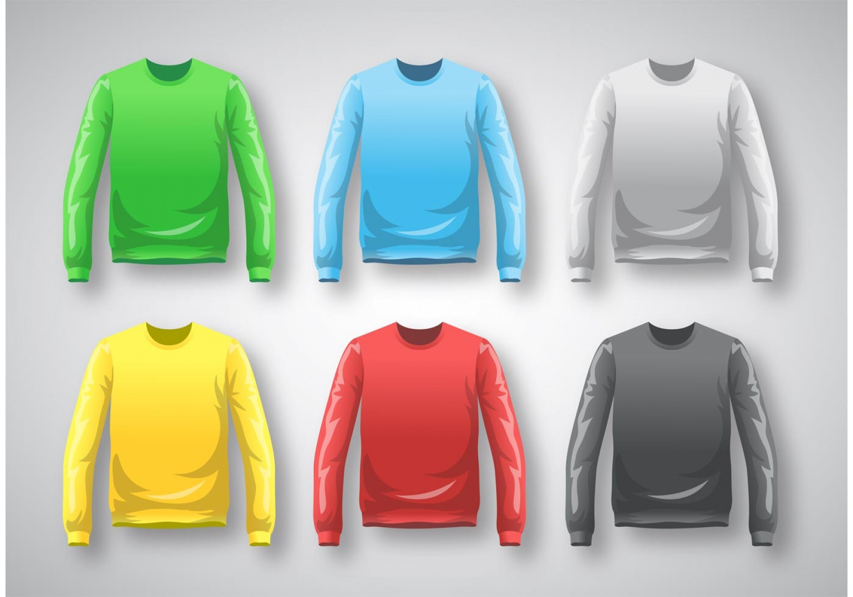 Long Sleeve Jersey Vector Template: Long Sleeve T Shirt Template Vector
