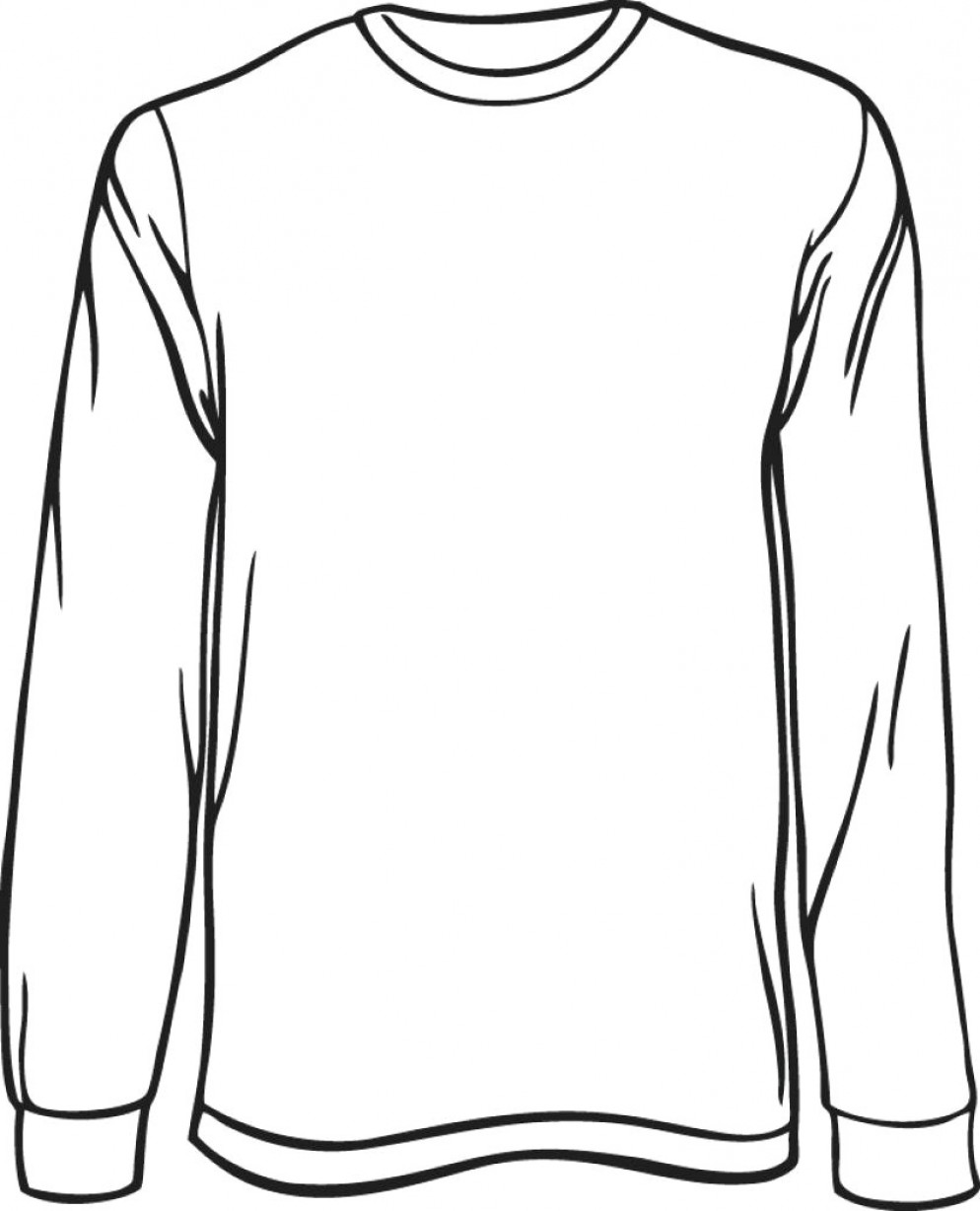 Long Sleeve Jersey Vector Template: Long Sleeve Template Interest Blank Long Sleeved T Shirt Template Vector