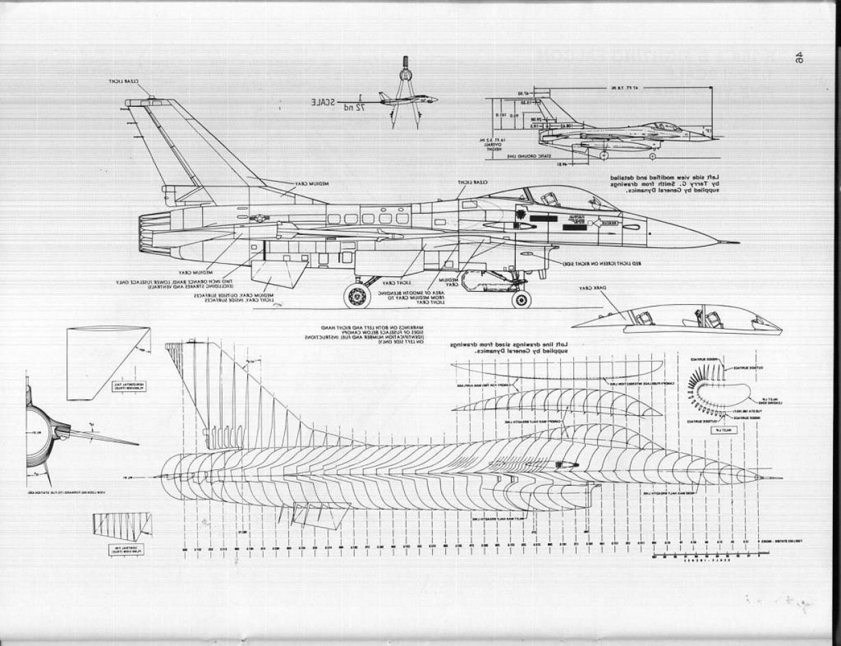 Falcon 50 Vector 2D CAD Drawings: Looking F Scale Drawing Plans