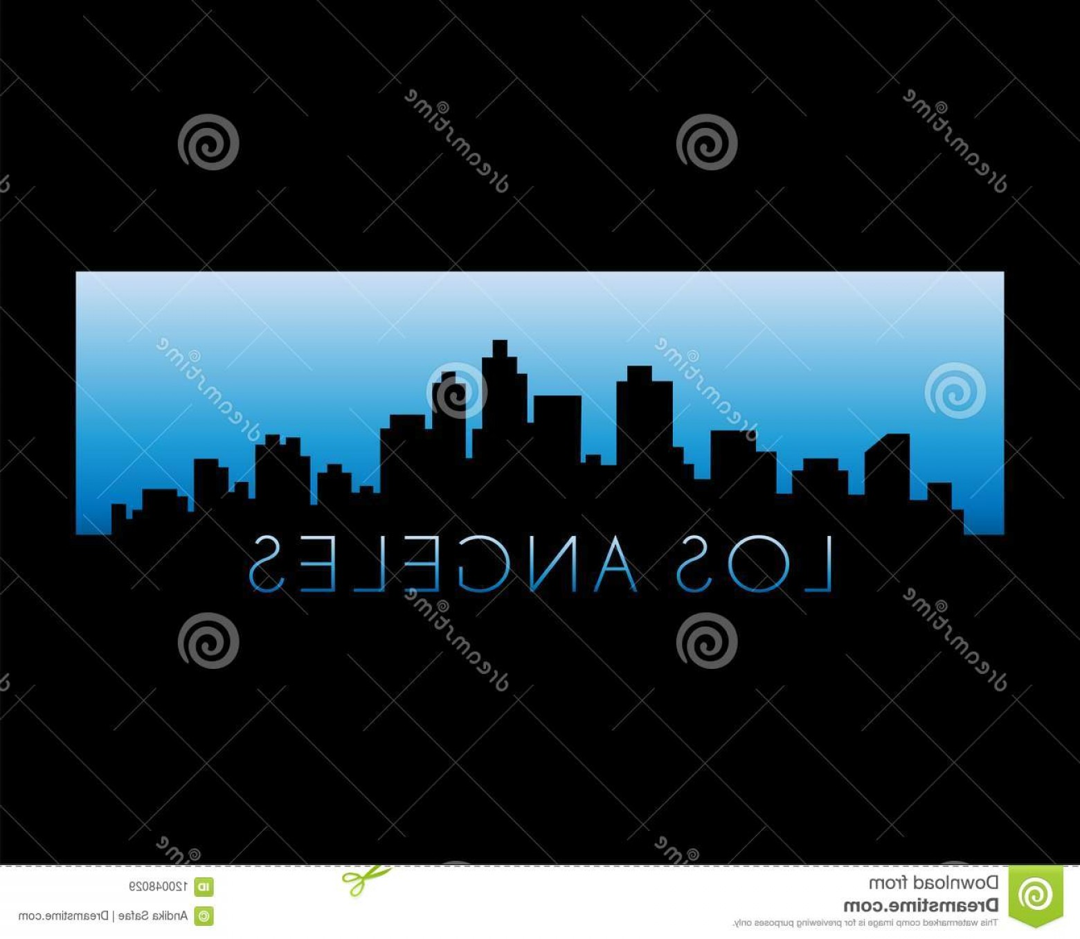 Hollywood Skyline Silhouette Vector: Los Angeles City Skyline Isolated Black Background Vector Illustration Eps Los Angeles City Skyline Vector Illustration Image