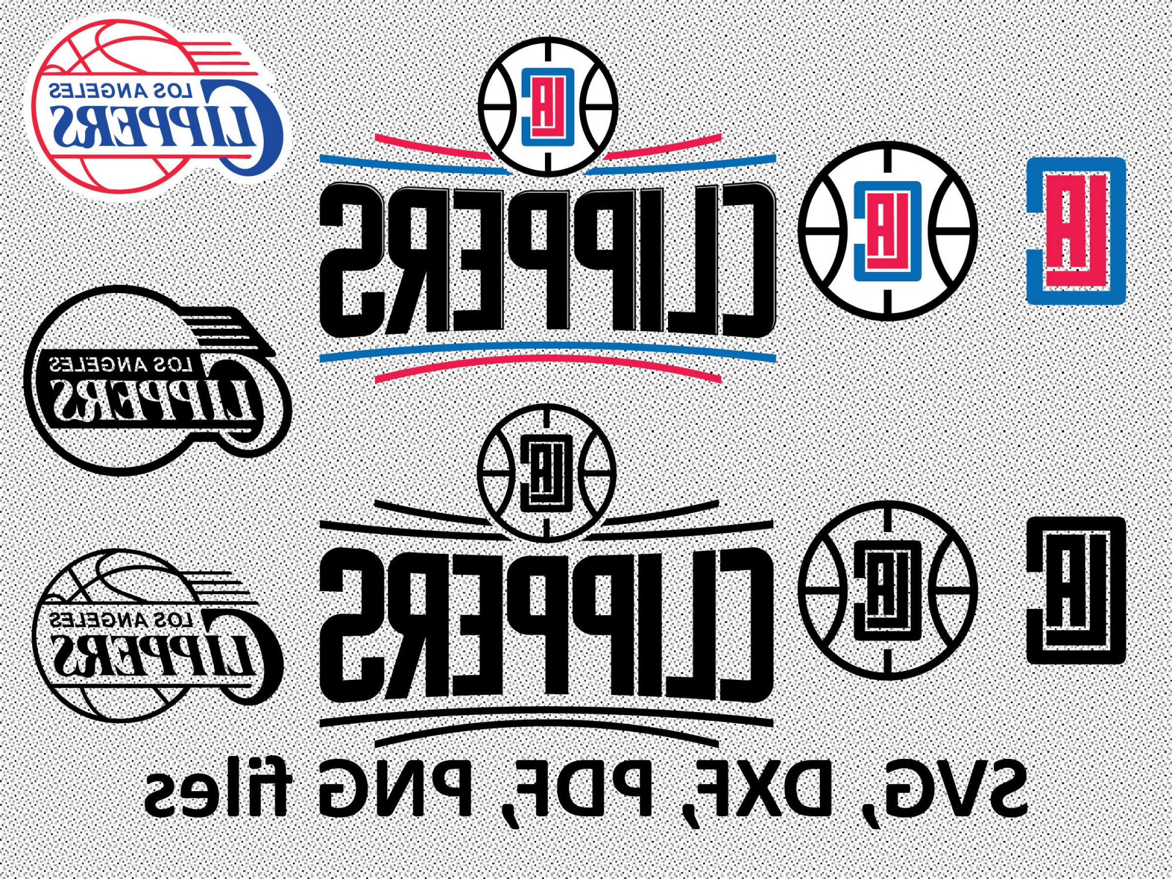 Vector NBA LogoArt: Los Angeles Clippers Svg Dxf Pdf Png