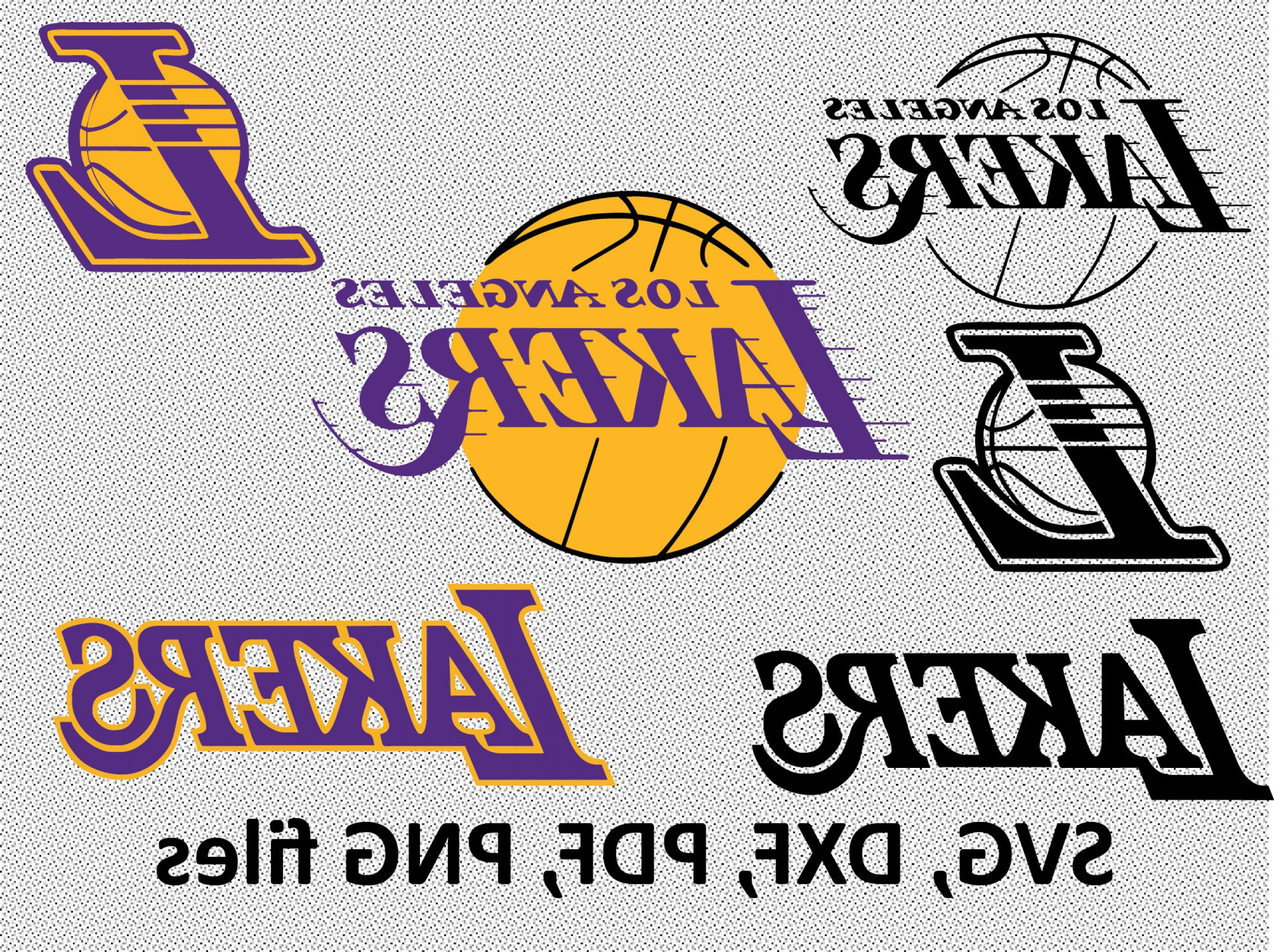 Vector NBA LogoArt: Los Angeles Lakers Svg Dxf Pdf Png
