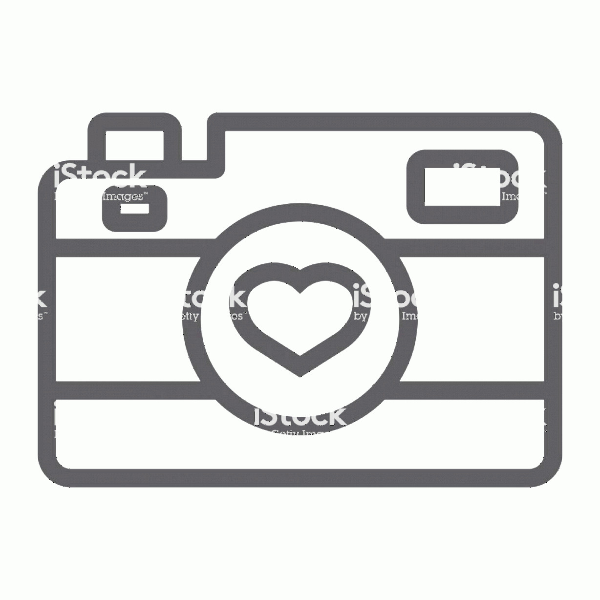Camera Heart Clip Art Vector: Love Camera Line Icon Valentines Day And Romantic Photography Sign Vector Graphics A Gm