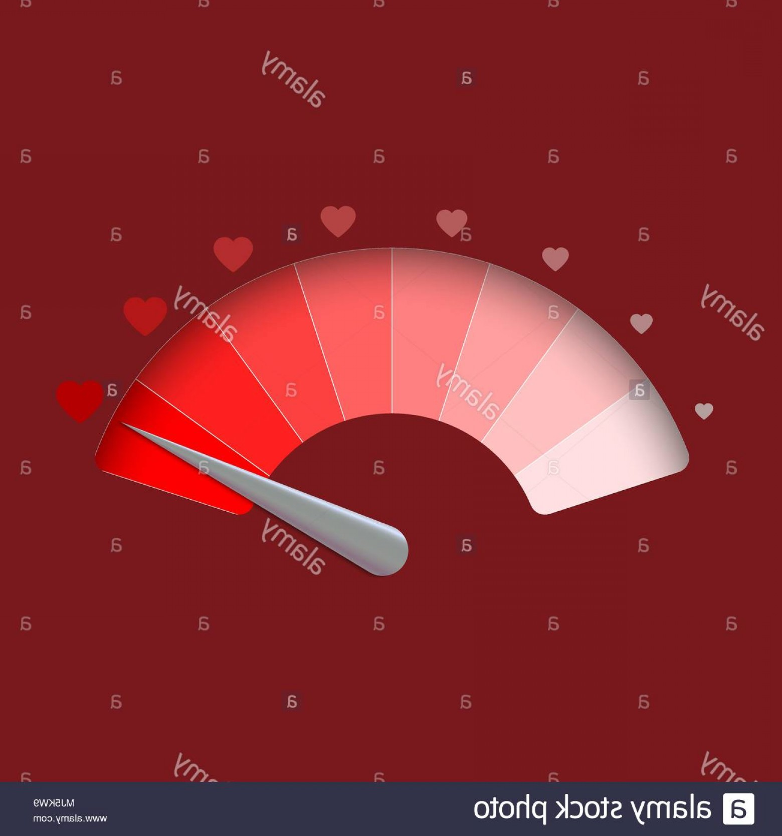 Love M J Vector: Love Meter Valentines Day Background Vector Illustration Image