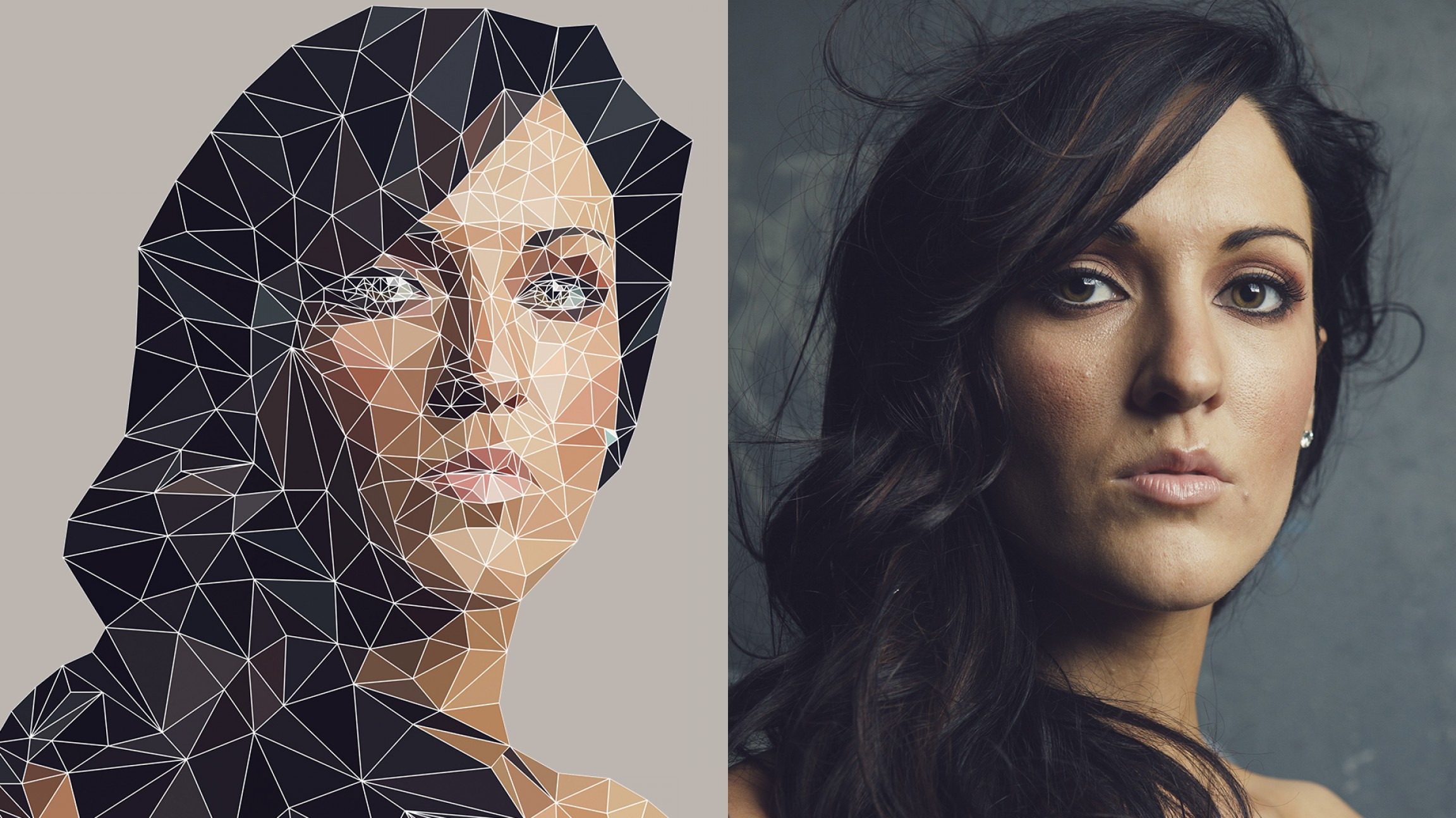 Pixelation Photoshop Vector: Low Poly Geometric Effect In Photoshop Only