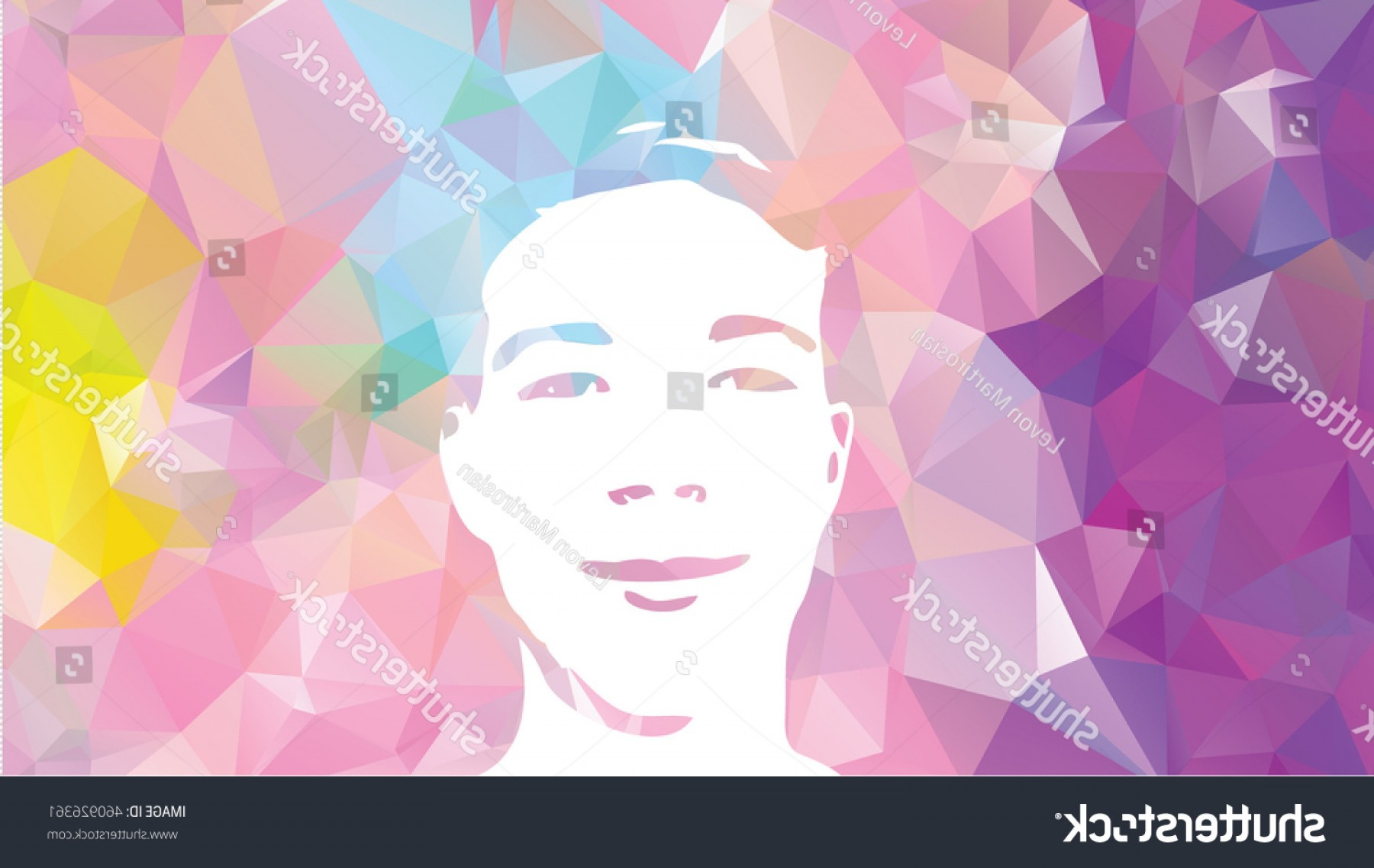 Airbrush Stencil Art Vector: Low Poly Graffiti Stencil Face Vector