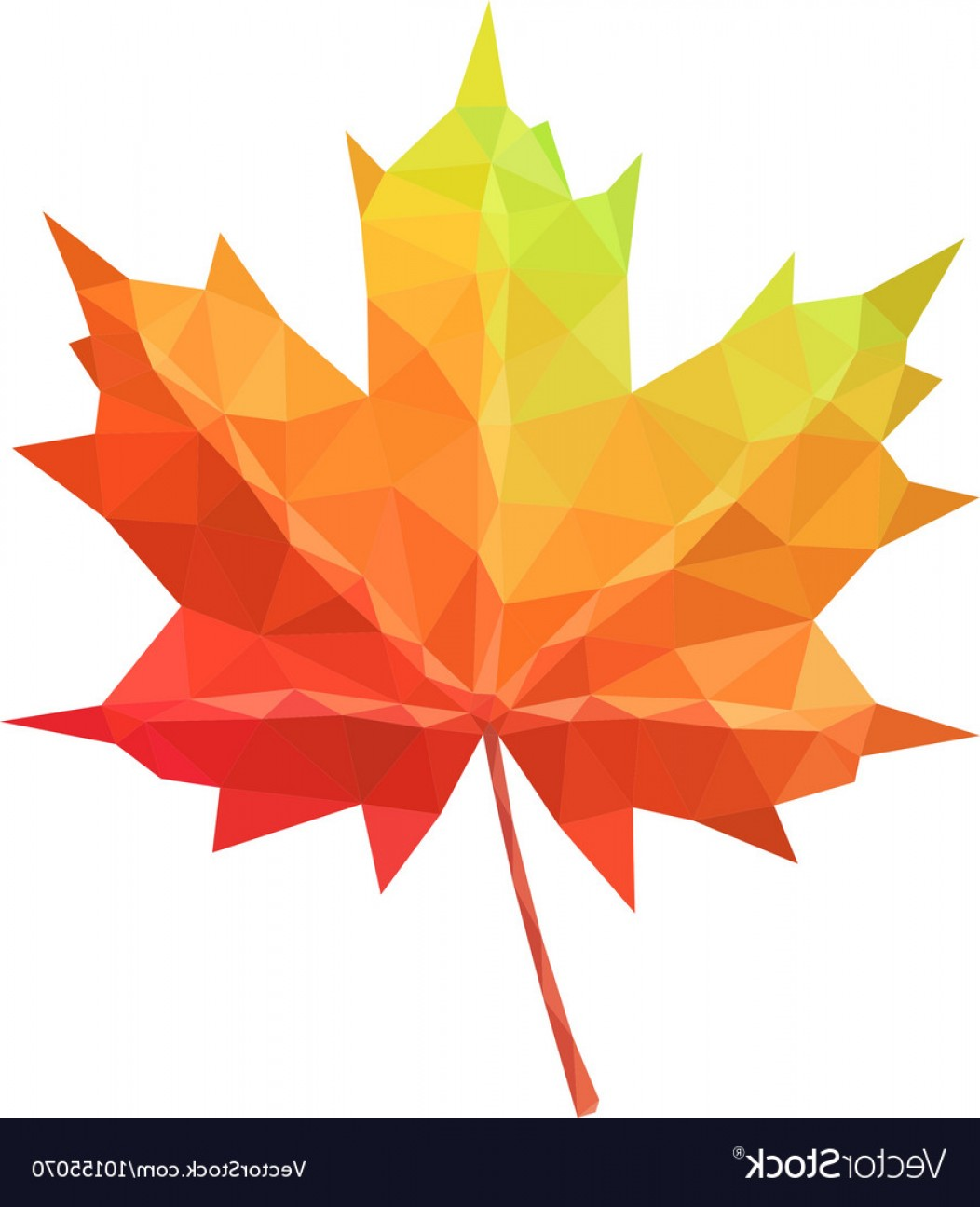 Red Maple Leaf Vector: Low Poly Maple Leaf Vector