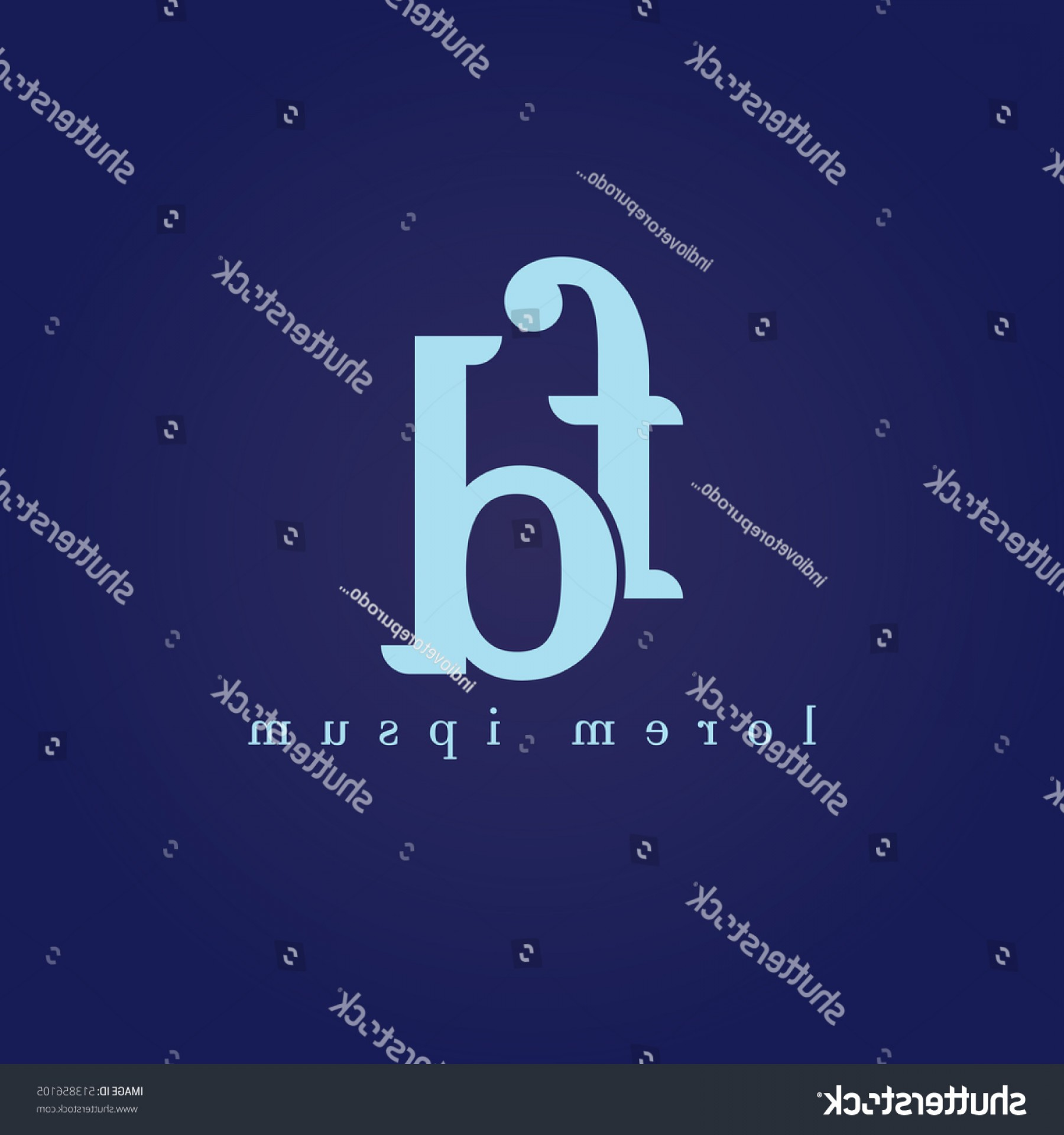 D Night Stanf Vector Graphic: Lowercase F D Vector Logo Fd