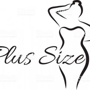 Plus Size Woman Vector: Logo Plus Size Woman Curvy Woman Symbol Logo Vector Illustration Gm