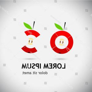 Red Apple Vector Logo: Logo Symbol Red Apple Vector