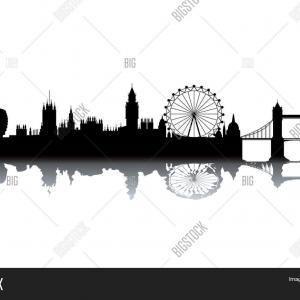 London Skyline Silhouette Vector: London Skyline City England