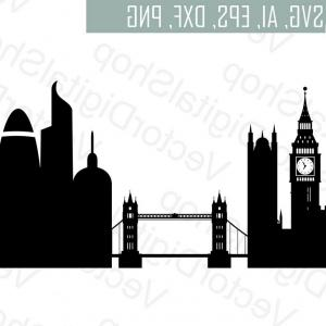 UK Skyline Vector: Cambridge Skyline Linear Style With Rainbow Gm