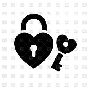 Heart Lock Vector: Stock Vector Heart Shaped Padlock In Vintage Engraved Style