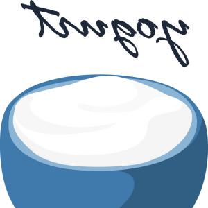 Yogurt Vector: Almond In Milk Splash In Yogurt Bowl Vector
