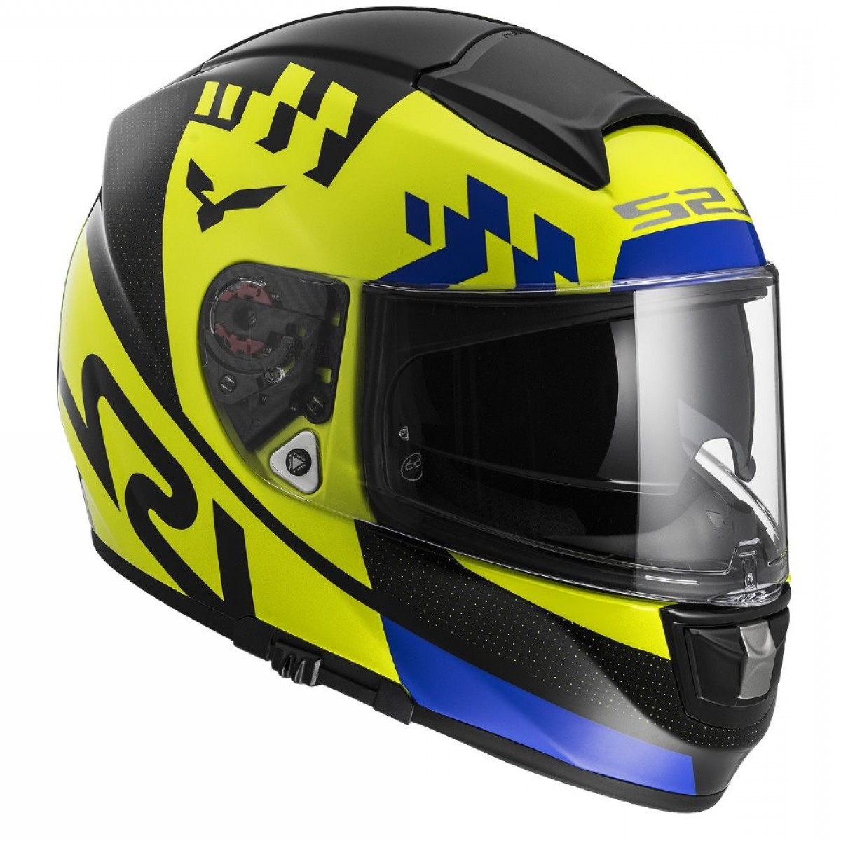 Fighter Helmet Vectors: Ls Ff Vector Podium Hi Vis Yellow Black Fog Fighter Pinlock