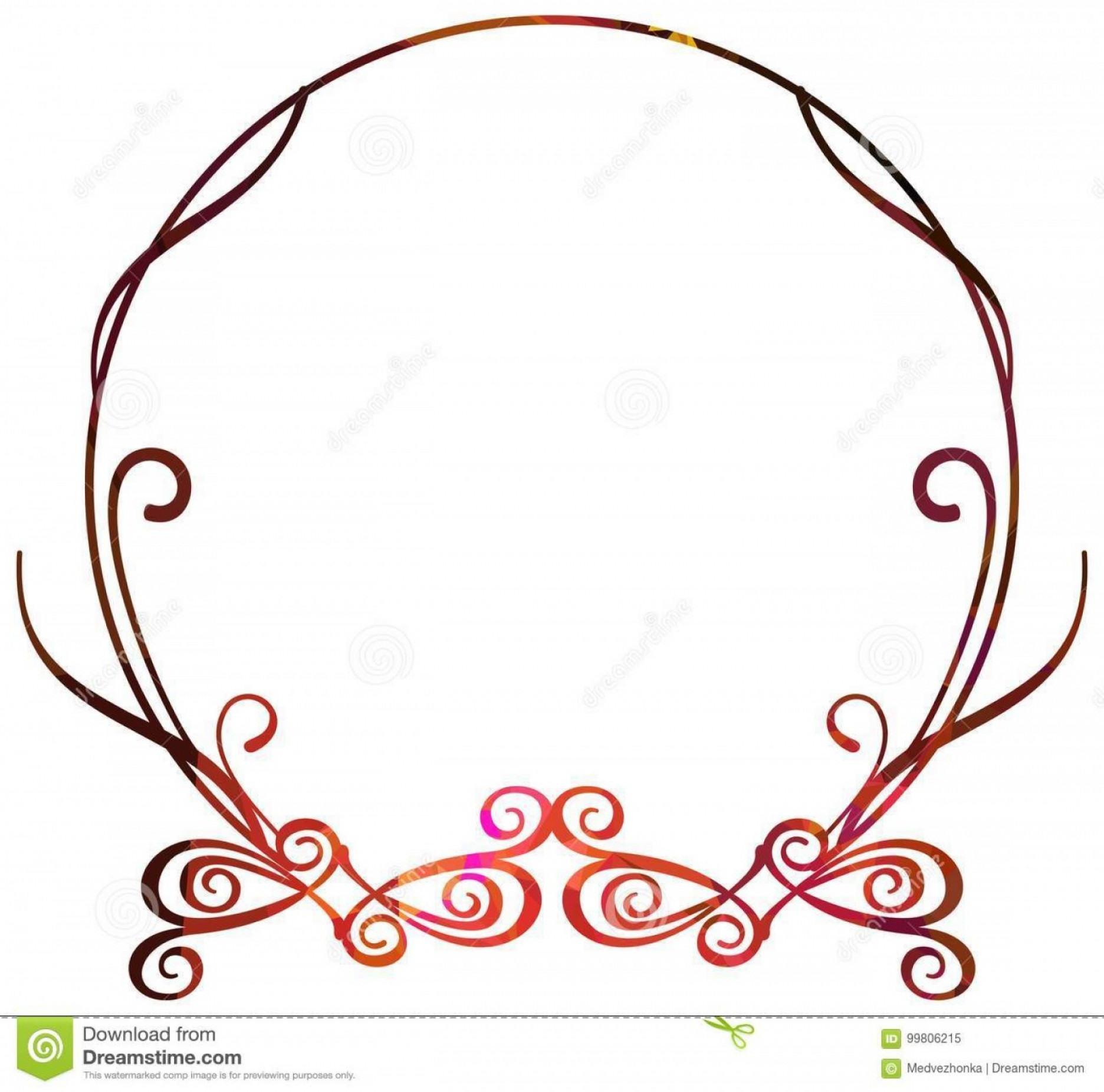 Luxury Round Frame Vector: Luxurious Abstract Round Frame Vector Clip Art Luxurious Abstract Round Frame Copy Space Beautiful Background Your Artwork Image